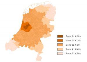 bezorgzones Nederland